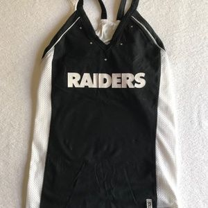 Raiders Womans Sports Tank Preowend Med